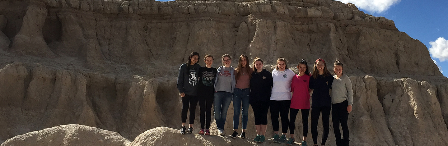 Students at the Badlands